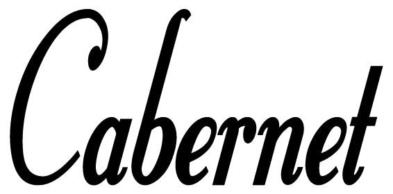 CABERNET WALL DECAL BLACK