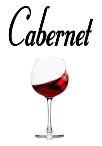 CABERNET WALL DECAL