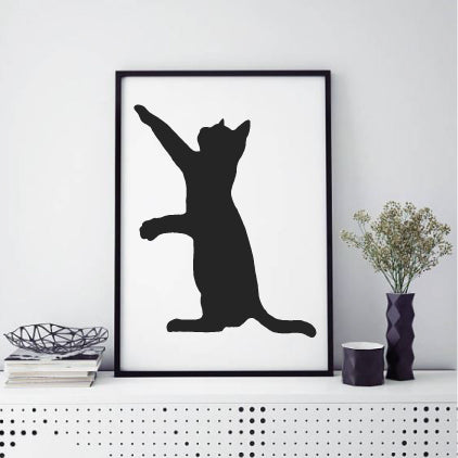 CAT SILHOUETTE WALL STICKER