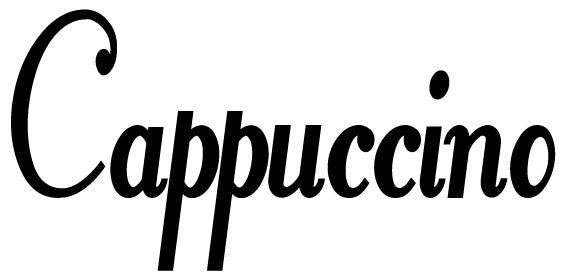 CAPPUCCINO WALL DECAL BLACK