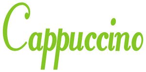 CAPPUCCINO WALL DECAL LIME GREEN