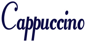CAPPUCCINO WALL DECAL NAVY BLUE