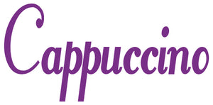 CAPPUCCINO WALL DECAL PURPLE