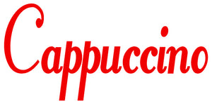 CAPPUCCINO WALL DECAL RED