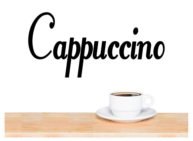 CAPPUCCINO WALL DECAL