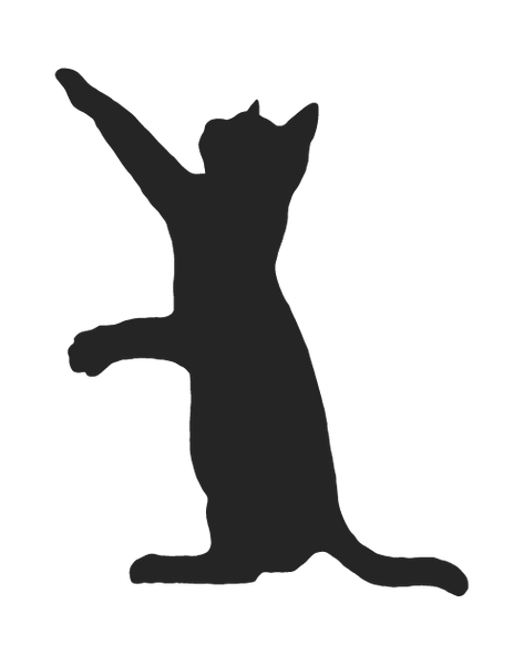 CAT SILHOUETTE WALL DECAL
