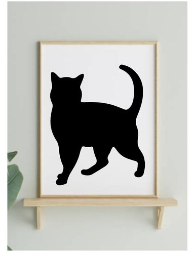CAT SILHOUETTE STICKER