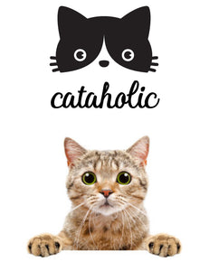 CATAHOLIC FUNNY PET WALL DECAL