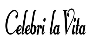 CELEBRI LA VITA ITALIAN WORD WALL DECAL IN BLACK