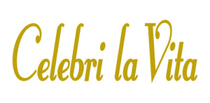 CELEBRI LA VITA ITALIAN WORD WALL DECAL IN GOLD