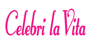 CELEBRI LA VITA ITALIAN WORD WALL DECAL IN HOT PINK