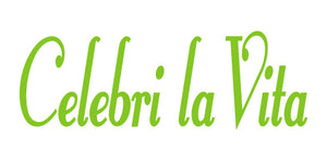 CELEBRI LA VITA ITALIAN WORD WALL DECAL IN LIME GREEN