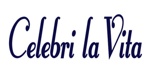 CELEBRI LA VITA ITALIAN WORD WALL DECAL IN NAVY BLUE