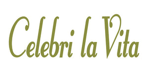 CELEBRI LA VITA ITALIAN WORD WALL DECAL IN OLIVE GREEN