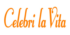 CELEBRI LA VITA ITALIAN WORD WALL DECAL IN ORANGE