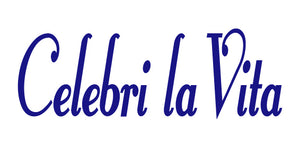 CELEBRI LA VITA ITALIAN WORD WALL DECAL IN ROYAL BLUE
