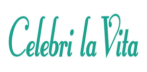 CELEBRI LA VITA ITALIAN WORD WALL DECAL IN TURQUOISE