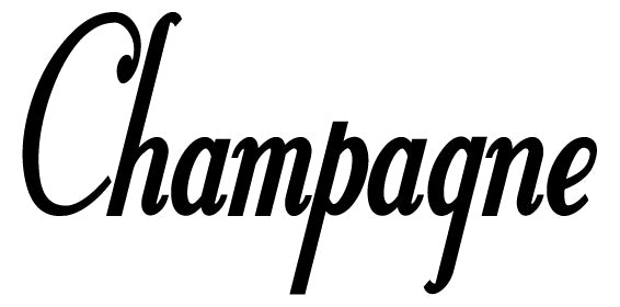 CHAMPAGNE WALL DECAL BLACK