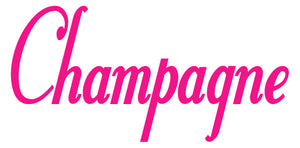 CHAMPAGNE WALL DECAL HOT PINK