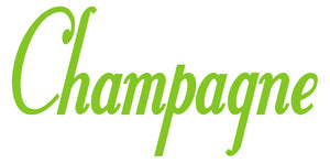 CHAMPAGNE WALL DECAL LIME GREEN
