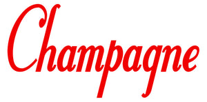 CHAMPAGNE WALL DECAL RED