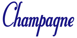 CHAMPAGNE WALL DECAL ROYAL BLUE