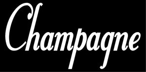 CHAMPAGNE WALL DECAL WHITE