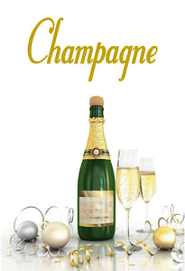CHAMPAGNE WALL DECAL