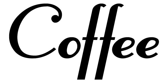 COFFEE WALL DECAL BLACK