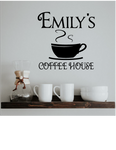 COFFEE HOUSE KITCHEN DECAL