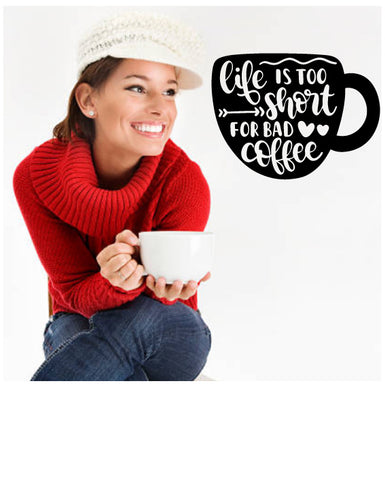 Coffee quote decal