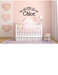 BUTTERFLY CUSTOM NAME WALL DECAL