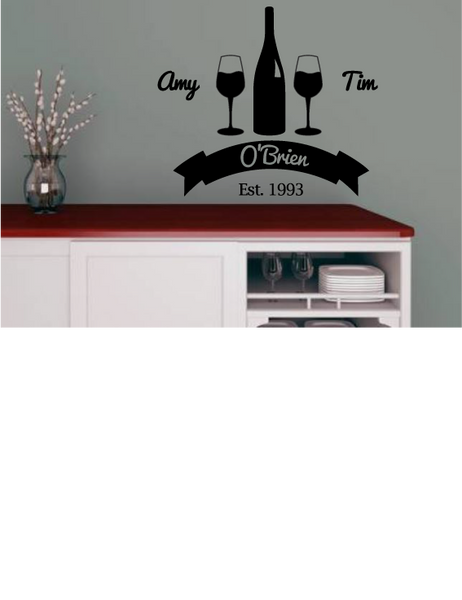 CUSTOM WINE BOTTLE WALL DECAL