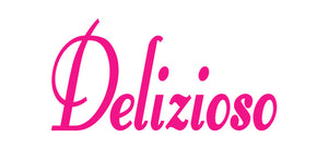 DELIZIOSO ITALIAN WORD WALL DECAL IN HOT PINK
