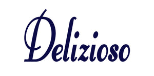 DELIZIOSO ITALIAN WORD WALL DECAL IN NAVY BLUE
