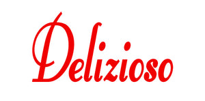 DELIZIOSO ITALIAN WORD WALL DECAL IN RED