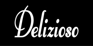 DELIZIOSO ITALIAN WORD WALL DECAL IN WHITE