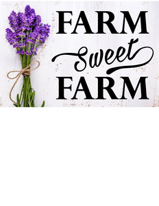 FARM SWEET FARM WALL DECAL