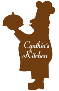 CHEF WALL DECAL BROWN