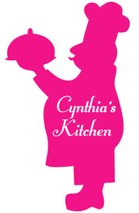 CHEF WALL DECAL HOT PINK
