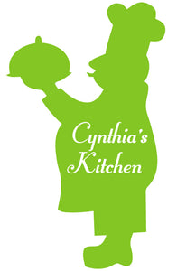 CHEF WALL DECAL LIME GREEN