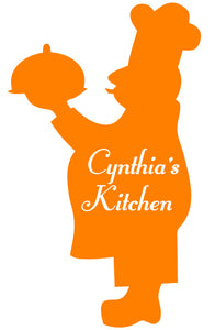 CHEF WALL DECAL ORANGE
