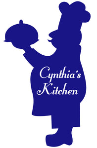 CHEF WALL DECAL ROYAL BLUE