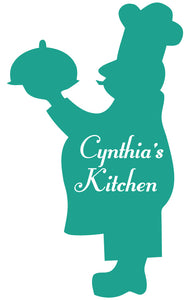 CHEF WALL DECAL TURQUOISE