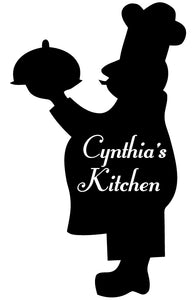 FAT CHEF WALL DECAL