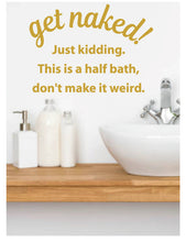 Load image into Gallery viewer, FUNNY BATHROOM WALL DECAL