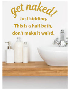 FUNNY BATHROOM WALL DECAL