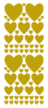 Load image into Gallery viewer, GOLD HEART WALL STICKERS