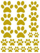 Load image into Gallery viewer, GOLD PAW PRINT WALL DECALS
