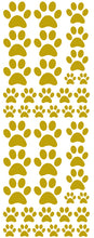 Load image into Gallery viewer, GOLD PAW PRINT DECALS